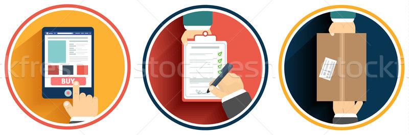 Internet shopping process of purchasing Stock photo © robuart