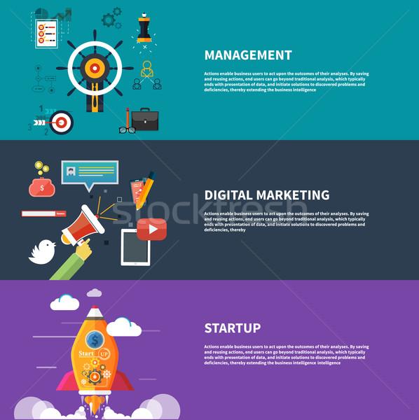 Gestión digital comercialización planificación diseno estilo Foto stock © robuart