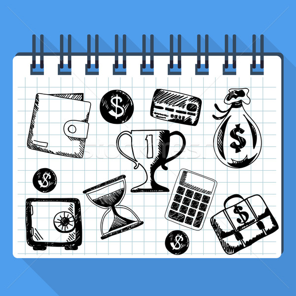 Sketch of business concept and money Stock photo © robuart