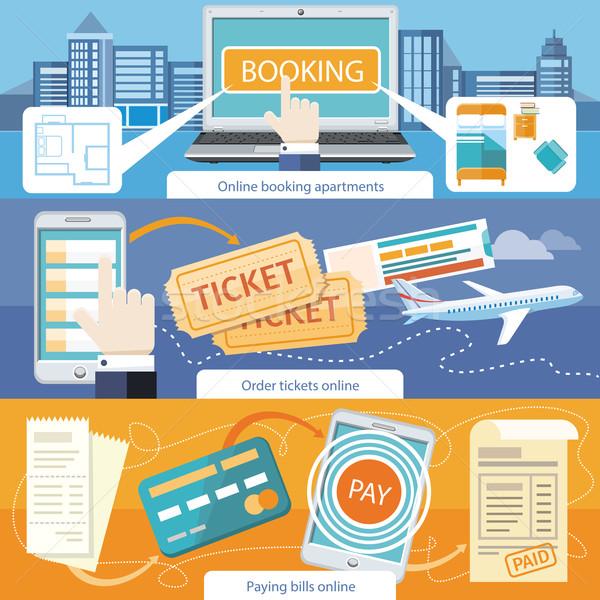 Illetmény számlák online előre bejelentkezés lakások rendelés Stock fotó © robuart