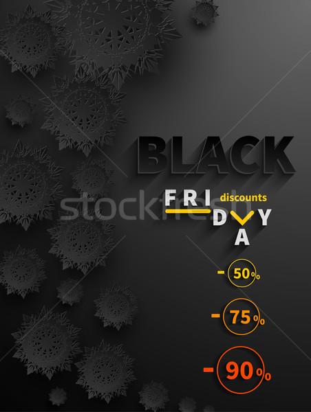 Black friday venda modelo de design bandeira compras Foto stock © robuart