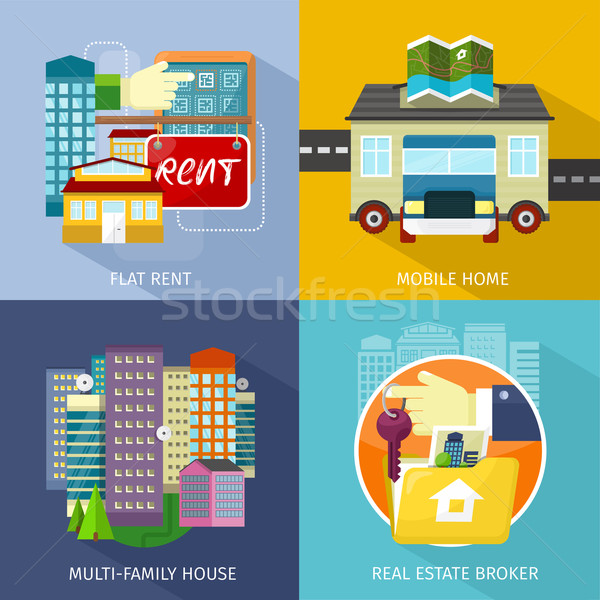 Multi-family House, Mobile Home, Flat Rent Stock photo © robuart