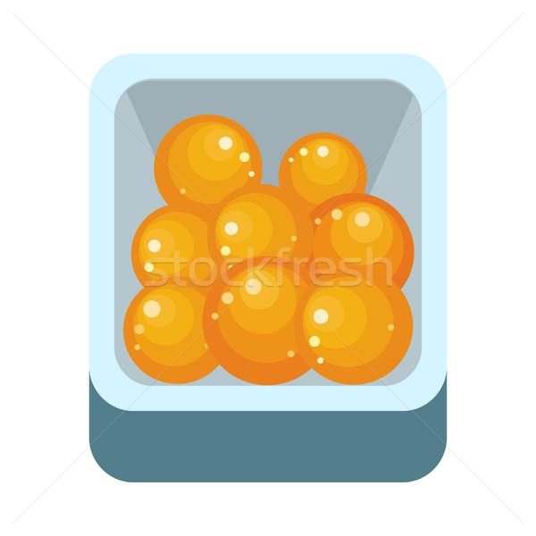 Pomarańczy plastikowe polu dojrzały pomarańczowy Zdjęcia stock © robuart