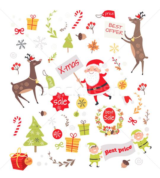 Venta objetos creación año nuevo tarjeta de felicitación establecer Foto stock © robuart