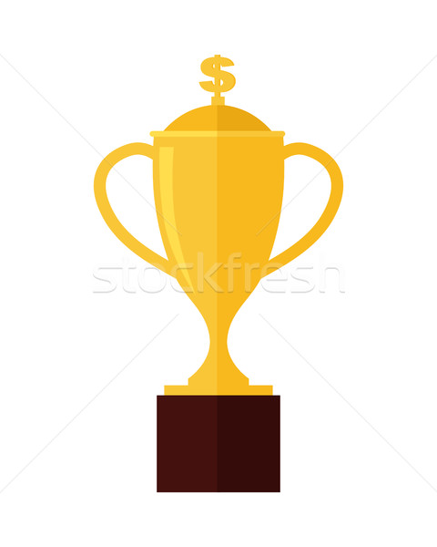 Gold Trophy Cup Award Isolated on White. Stock photo © robuart