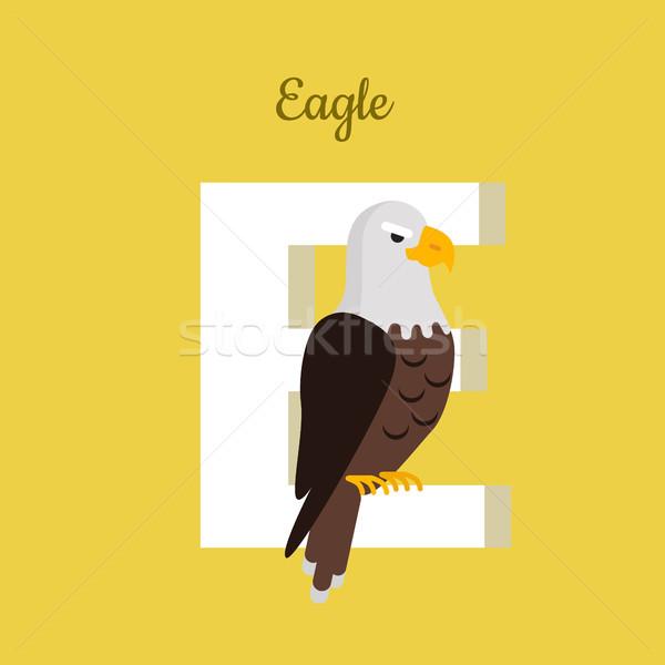 Animals Alphabet. Letter - E Stock photo © robuart