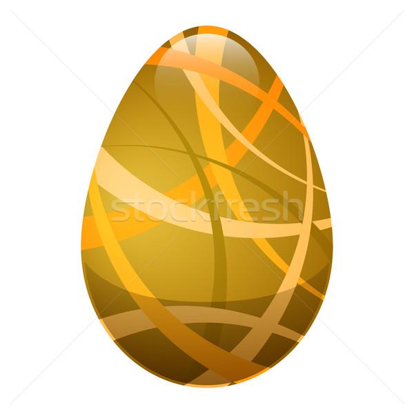 Easter egg dekoracyjny linie złoty kolory odizolowany Zdjęcia stock © robuart