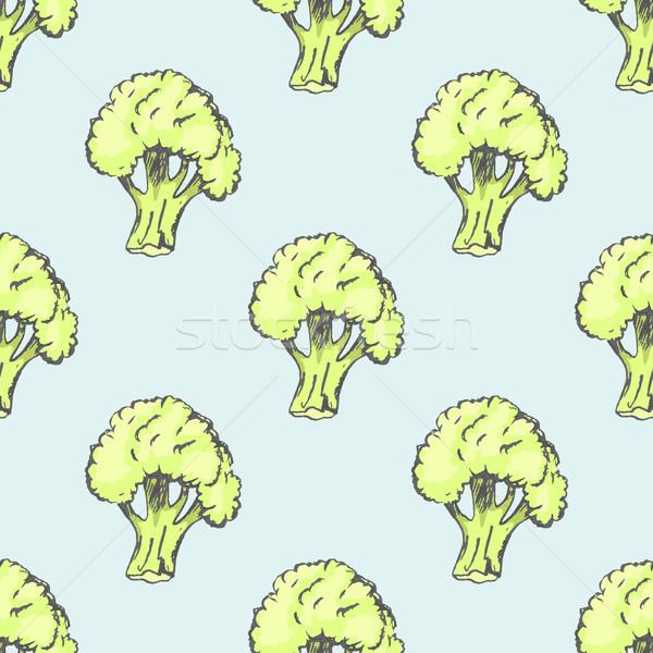 Fresche broccoli illustrazione texture Foto d'archivio © robuart