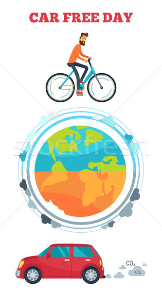 Car Free Day Symbol Vector Illustration Stock photo © robuart