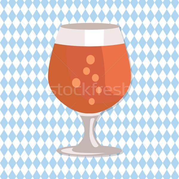 Bira şeffaf züccaciye vektör cam Stok fotoğraf © robuart
