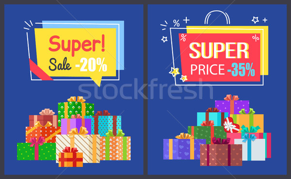 Total Sale Best Prices Discount Final Offer Labels Stock photo © robuart