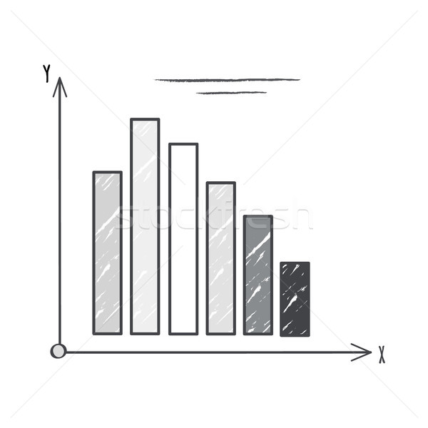 Black and White Graphic on Vector Illustration Stock photo © robuart