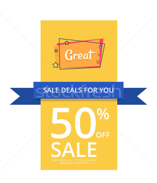 Sale Deals for You 50 Off Sale with Great Text Stock photo © robuart