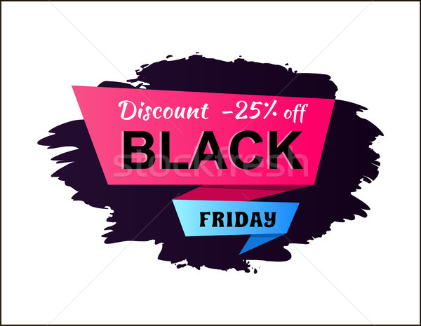 Discount -25 Off Black Friday Vector Illustration Stock photo © robuart