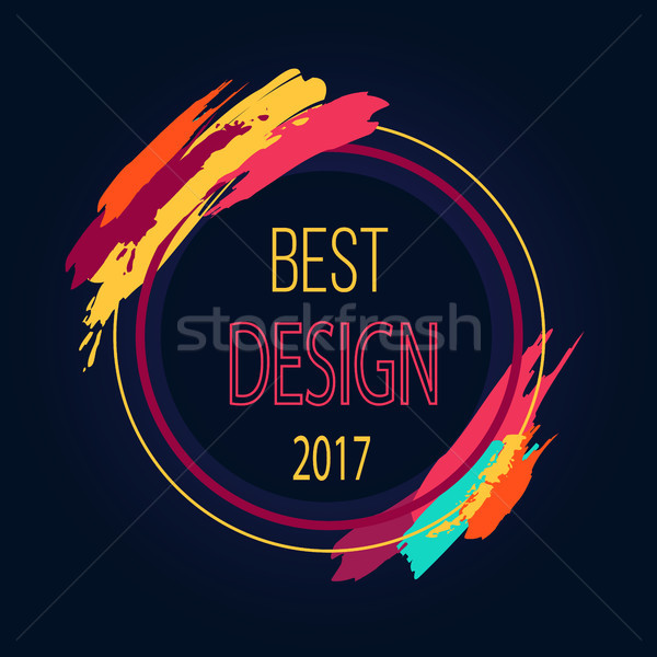 Best Design 2017 Round Frame Border Art Brush Stock photo © robuart