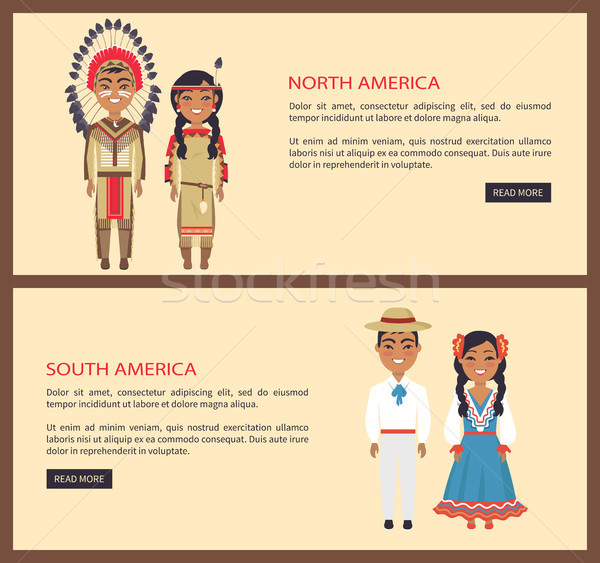 North and South America on Vector Illustration Stock photo © robuart