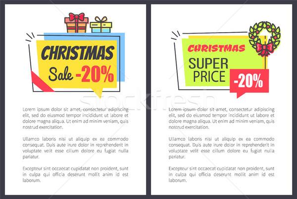 Рождества продажи 20 рекламный плакатов Сток-фото © robuart