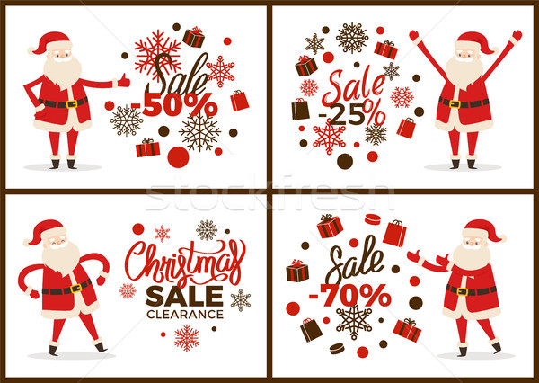 Christmas Sale Clearance Banner with Santa Claus Stock photo © robuart