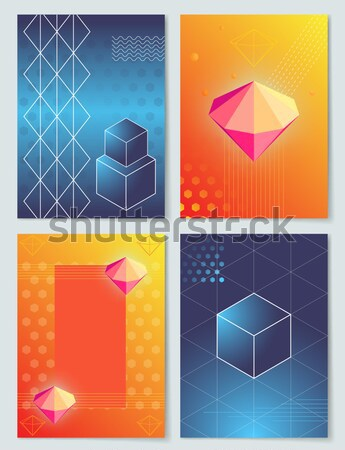 Diamonds and Stones Collection Vector Illustration Stock photo © robuart