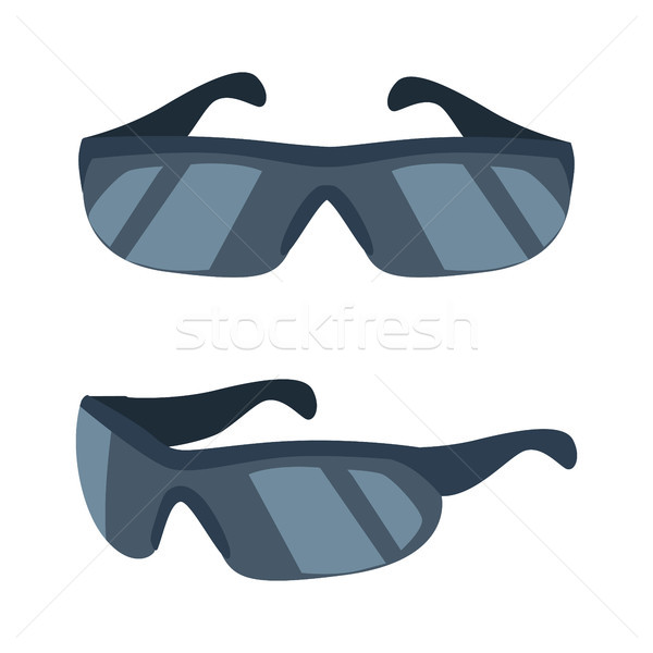 Cyclists Glasses Collection Vector Illustration Stock photo © robuart