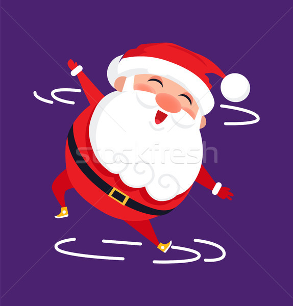 Santa Modern Dancer Cute Cartoon Character Isolate Stock photo © robuart