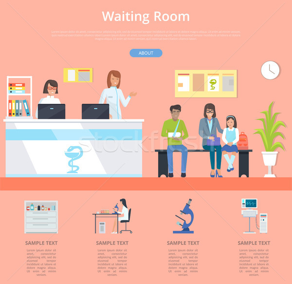 Waiting Room Hospital Service Vector Illustration Stock photo © robuart