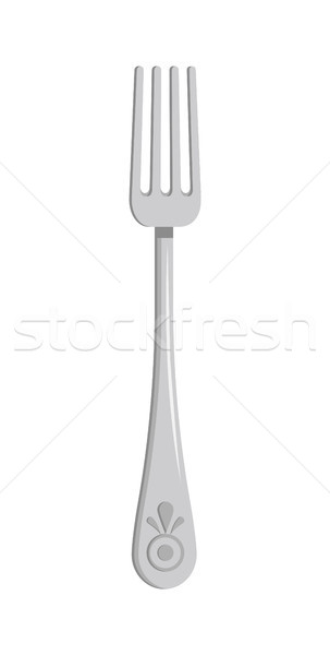 Silver Fork Pattern Isolated on White Background Stock photo © robuart