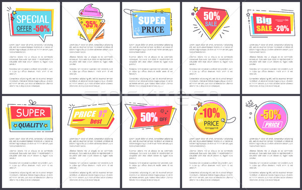 Super Price and Quality on Vector Illustration Stock photo © robuart