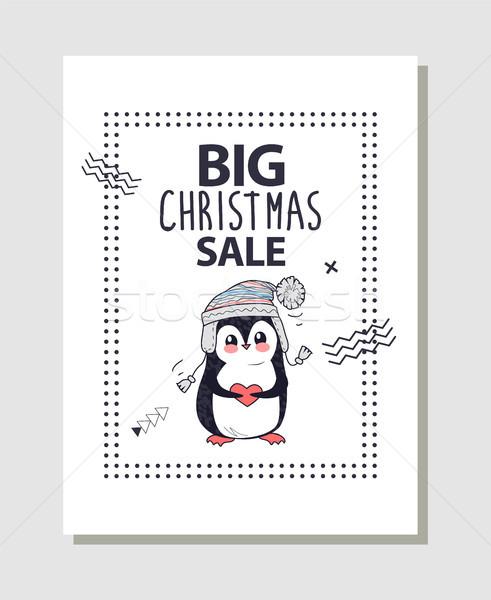 большой Рождества продажи поощрения плакат Cute Сток-фото © robuart
