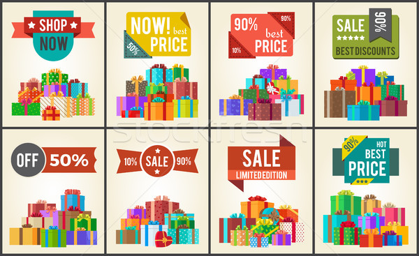 Best Prices Set of Promo Posters Advert Stickers Stock photo © robuart