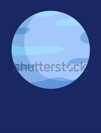 Gezegen dikey promo poster güneş sistemi Stok fotoğraf © robuart