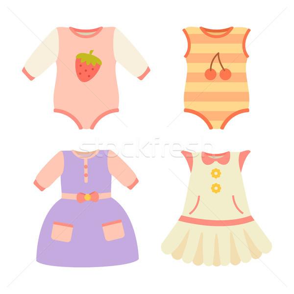 赤ちゃん 服 コレクション ドレス ポスター ドレス ストックフォト © robuart