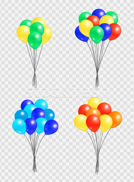 Bunch Helium Colorful Air Balloons Isolated Vector Stock photo © robuart