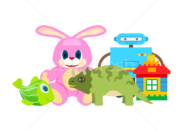 Children Toys Collection, Vector Illustration Stock photo © robuart