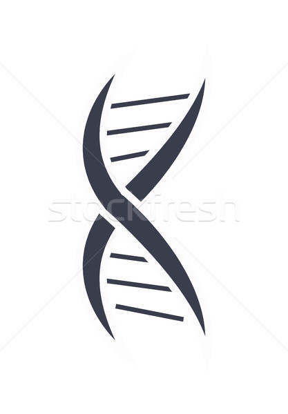 ADN ácido cadena diseño de logotipo icono blanco negro Foto stock © robuart