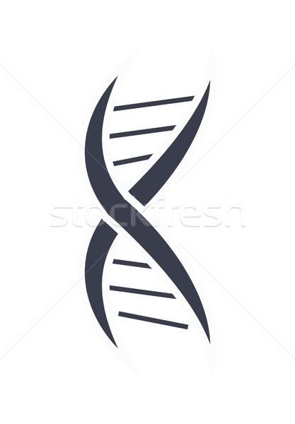 ДНК кислота цепь дизайн логотипа икона черно белые Сток-фото © robuart