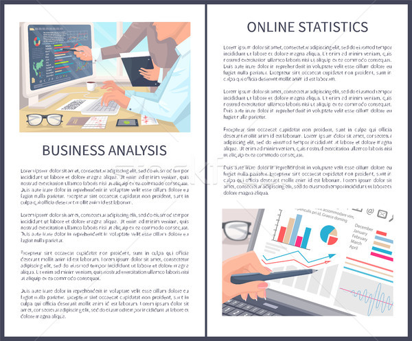 Business Analysis and Online Statistics Posters Stock photo © robuart