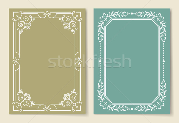 Vintage Frames Collection White Borders Isolated Stock photo © robuart