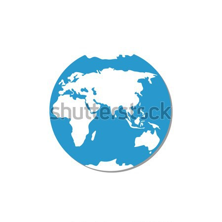 Round Globe Vector Illustration Earth Silhouette Stock photo © robuart