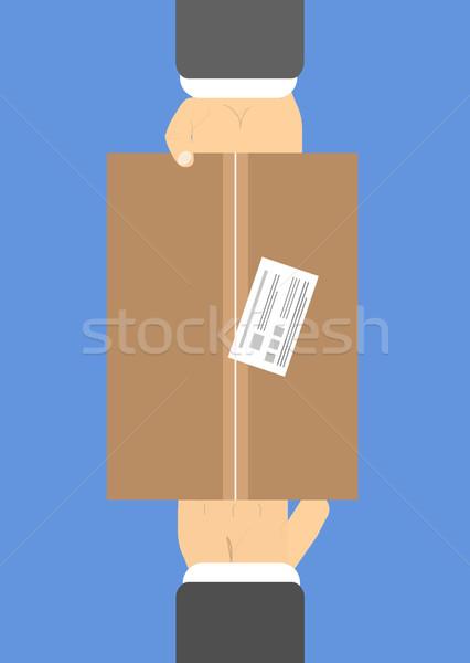 Entrega caixa dois mão negócio internet Foto stock © robuart