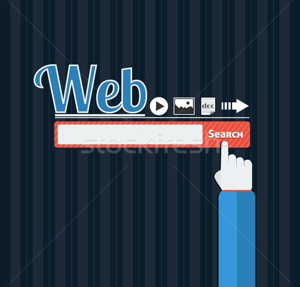 Search bar browser in flat Stock photo © robuart