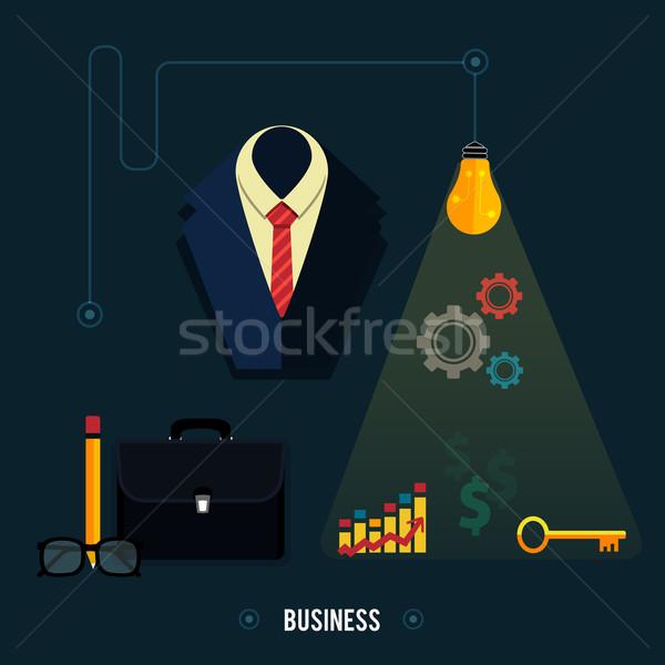 бизнеса инструменты онлайн документы иконки компьютер Сток-фото © robuart