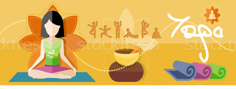 йога Lotus создают спорт дизайна Сток-фото © robuart