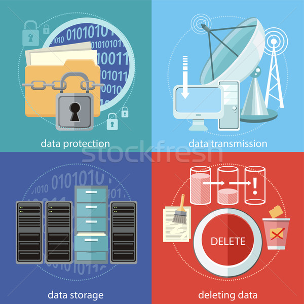 Data protection, transmission, storage and delete Stock photo © robuart