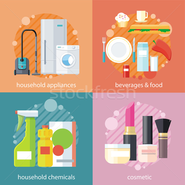 Household and Beverages Food Cosmetic Stock photo © robuart