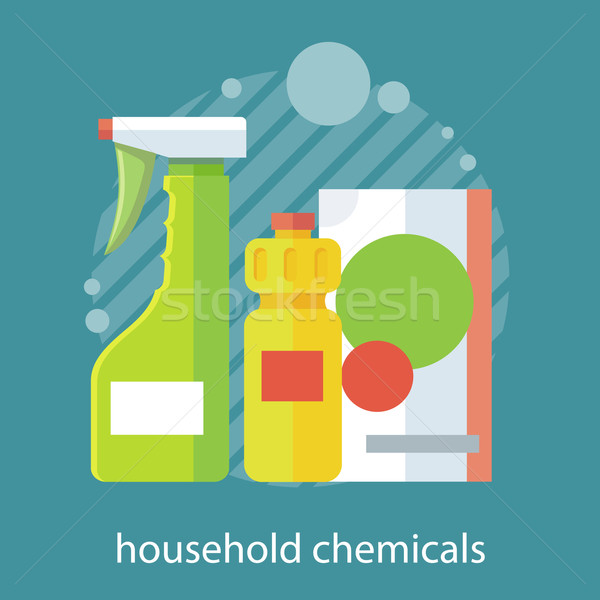 Household Chemical Flat Design Stock photo © robuart