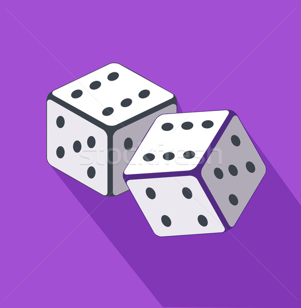 Dice Flat Design on Background Stock photo © robuart