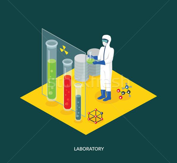 Stock photo: Science Lab Isomatric Design Flat