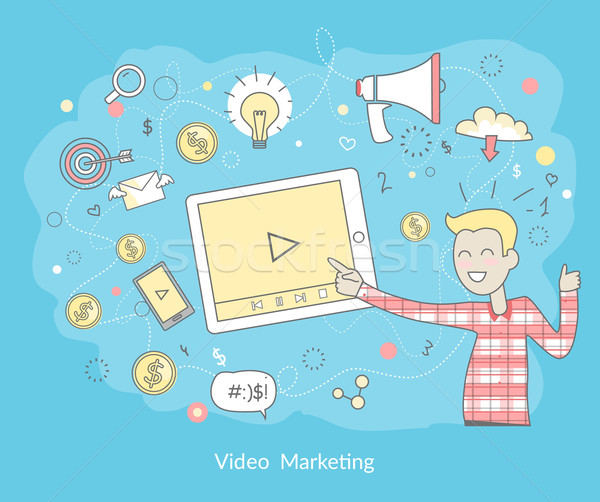 Video marketing prodotti servizi business online Foto d'archivio © robuart