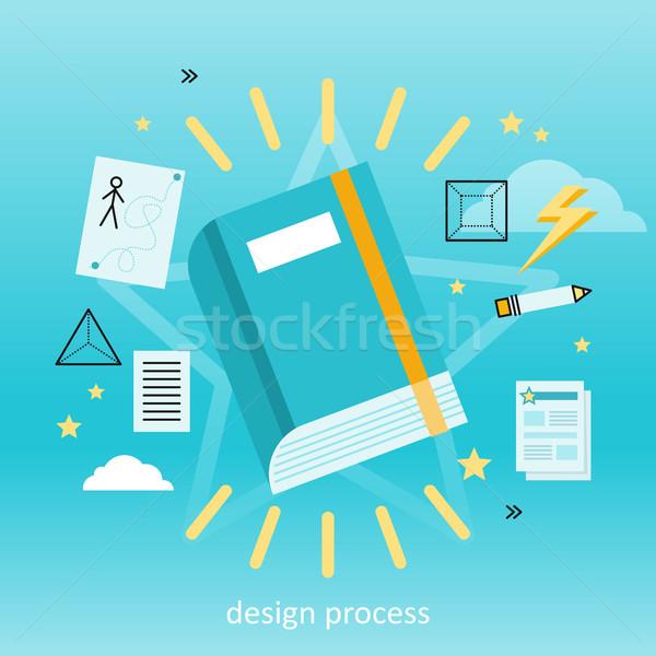 Design Prozess Banner Verfahren neue kreative Stock foto © robuart